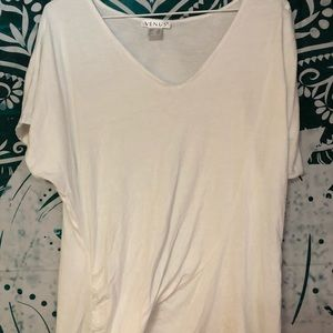 Ladies XL knotted bottom top